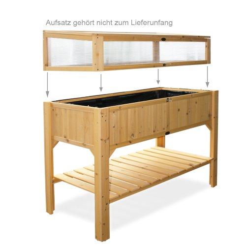 habau hochbeet mit ablage gelb 119 x 57 x 90 cm europaletten kaufen. Black Bedroom Furniture Sets. Home Design Ideas