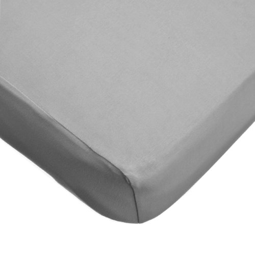 American Baby Company 100% Cotton Value Jersey Knit Crib Sheet,  Gray (Mini Crib Sheets 6in Deep compare prices)
