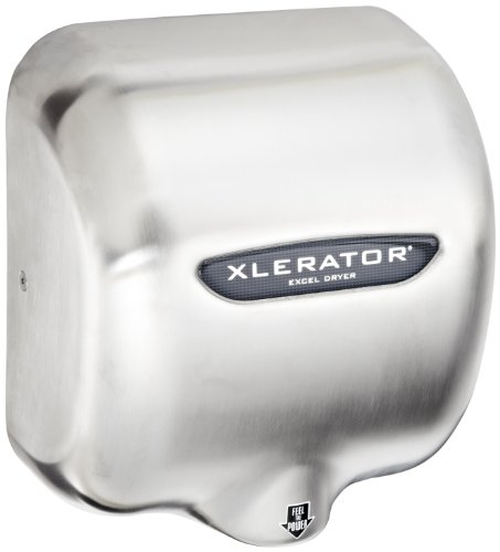 XLERATOR XL-SB Automatic High Speed Hand Dryer with Brushed Stainless Steel Cover and 1.1 Noise Reduction Nozzle, 12.5 A, 110/120 V (Xlerator Dryer compare prices)