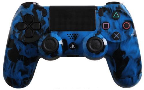 Custom Playstation 4 Controller Special Edition Blue Fire Controller
