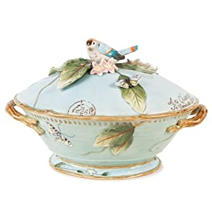 Fitz and Floyd Toulouse Tureen with Ladle by Fitz and Floyd