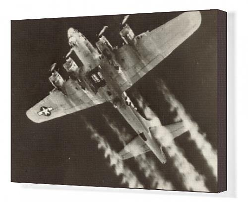 Canvas Artwork of A Boeing B-17G Flying Fortress prepares to drop its bombload