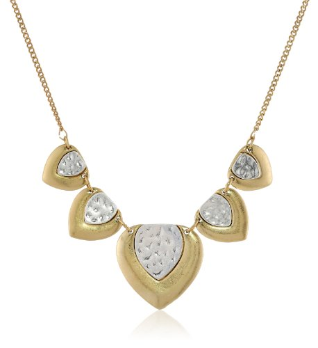 """Nine West Vintage America """"Two Step"""" Two-Tone Frontal Necklace, 18"""""""