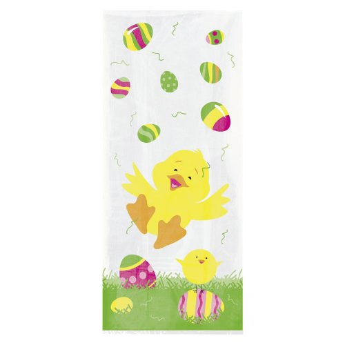 Pack of 20 EASTER CHICK Cello Bags (Cellophane/Party/Loot)
