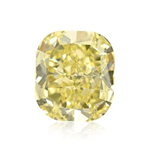 Yellow Loose Diamond Cushion Cut Natural Fancy Color GIA Certificate 5.40Ct VS1