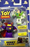 41u3LXiBxGL. SL160  Disney Pixar Toy Story Buddy Pack Running Buzz Lightyear &amp; Zurg