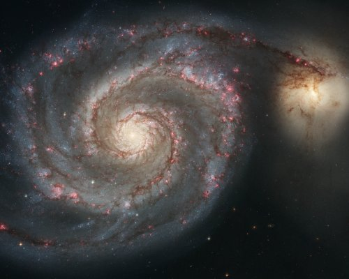 Hubble Space Telescope Photo Whirlpool Galaxy Nasa Photos 8X10