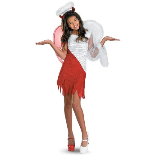 Disguise Sassy Scene Heavenly Devil Deluxe Tween Costume, 10-12 (Angel Devil compare prices)