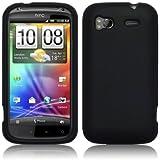 Leegoal(TM) HTC SENSATION 4G SILICONE SKIN CASE - BLACK
