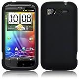 HTC SENSATION 4G SILICONE SKIN CASE - BLACK