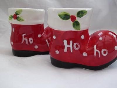 christmas salt and pepper pots