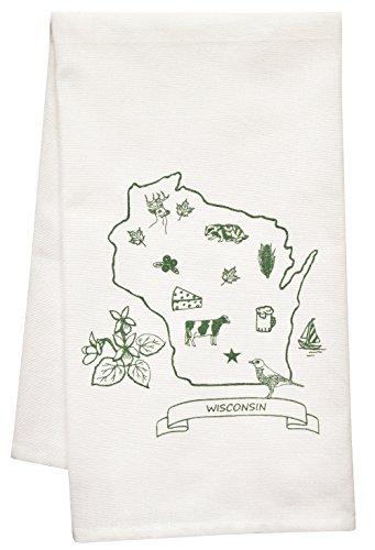Artgoodies Wisconsin Organic Block Print Tea Towel