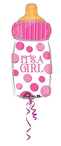 "Anagram International Jr. Girl Baby Bottle Balloon, 10 by 23"", Multicolor"