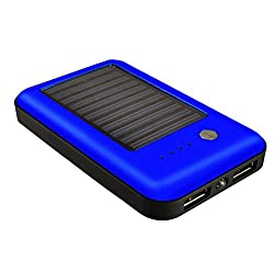 COOLNUT® High Capacity 7800mAh Dual USB Poratble Charger Solar Power Bank for For Iphone5, 6, 6+, 6s, 6s+, Samsung, HTC, Mi, Blackberry, Nokia, Moto, Asus, Lenovo, Xiaomi, Letv, Oppo, Gionee & All Others Android And Smartphones