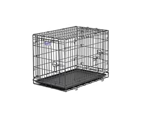 Midwest Select Triple-Door Dog Crate, 30 Inches by 19 Inches by 21 Inches