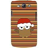 For Samsung Galaxy S3 I9300 :: Samsung I9305 Galaxy S III :: Samsung Galaxy S III LTE Funny Cartoon Santa Bird ( Funny Cartoon Santa Bird, Santa Bird, Multiple Pattern, Bird, Cartoon, Stripes ) Printed Designer Back Case Cover By FashionCops