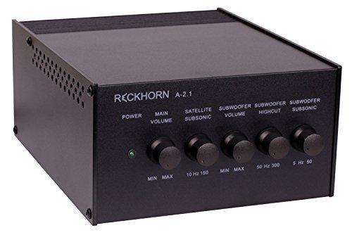 Reckhorn-A-21-3-Kanal-Stereo-Verstrker-mit-Mono-Subwoofer-Endstufe-und-Aktivweiche