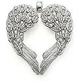 [PENAR58] Pendentif plaqué argent 925/1000 coeur ailes d'ange CZ paradis