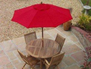 2.0m Red Garden Parasol