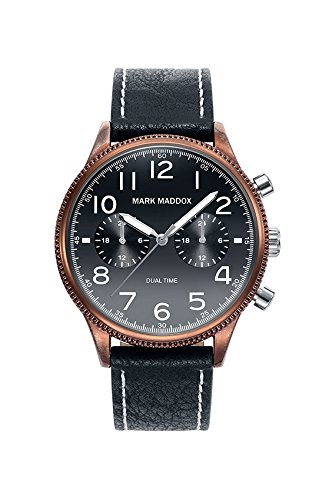 Orologio Mark Maddox Uomo HC2003 - 55 Dual Time Aviator