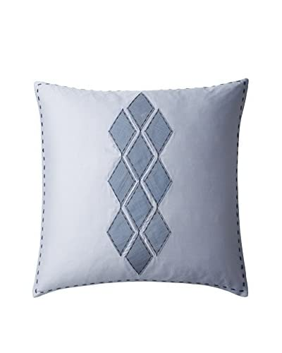 Vera Wang Shibori Diamond Decorative Pillow, Blue/White