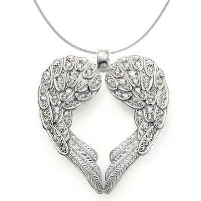 925 Sterling Silver Angel Heart Guardian Angel