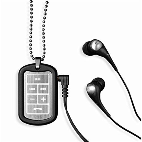 Generic Universal Bluetooth Stereo Headset Earphone Headphone Necklace (Black)