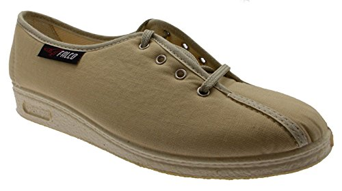 pantofola lacci cotone beige fisioterapia extra large 38 beige