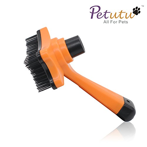 Dog Brushes For Shedding Dogs Grooming Brush -The Best Deshedding Tool To Easily Remove Shed Hair By Petutu® ( Orange ) (Tuff Shed Door Handle compare prices)