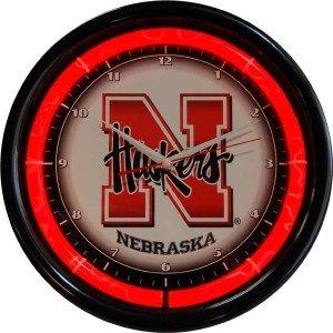 Nebraska Cornhuskers Plasma Clock by Authentic Street Signs