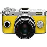"""Pentax Q-S1 Kit Compact numérique hybride 3"""" (7,62 cm) 12,4 Mpix USB Argent/Jaune + Objectif 5-15 mm f2.8-4.5"""