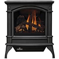 GVFS60N Vent Free Gas Stove Fuel Type: Natural Gas, Stove Finish: Painted Black