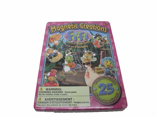 Magnetic Creations Playset - 25 Magnetic Pieces - Fifi And The Flowertots - 1