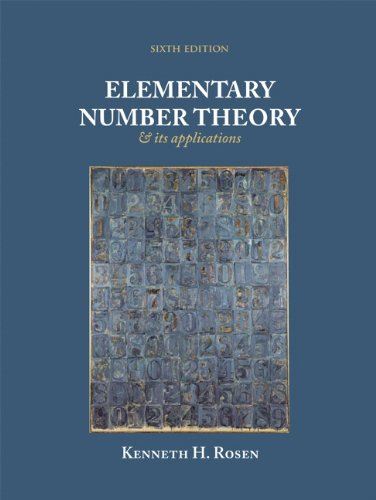 Elementary Number Theory (6th Edition) (Featured Titles...