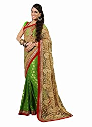 silvermoon women's net embroidered free size fancy saree-sm_NMN3A17017_beige_free size