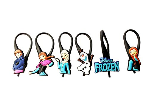 6 pcs Frozen Cartoon Soft Zipper Pull Charms for Backpack Bag Pendant Jacket