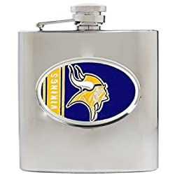 Minnesota Vikings 6oz Stainless Steel Flask