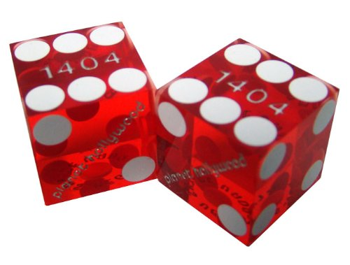 2 19mm Planet Hollywood Casino Precision Dice - Used in Actual Casino