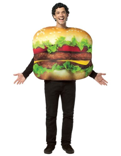 Halloween Costumes Item - Cheeseburger Adult Costume