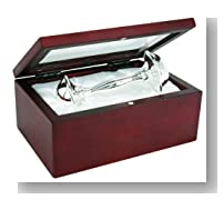 Stephan Baby Satin-Lined Rosewood Keepsake Box with 4