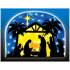 Outdoor nativity decor outdoor nativity bratt decor for 30 lighted nativity christmas window silhouette decoration