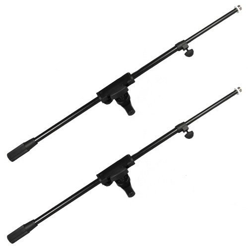 Podium Pro Mb1 Boom Microphone Arms Adjustable Dj Band Recording 2 Mic Arm Set Mb1-2S