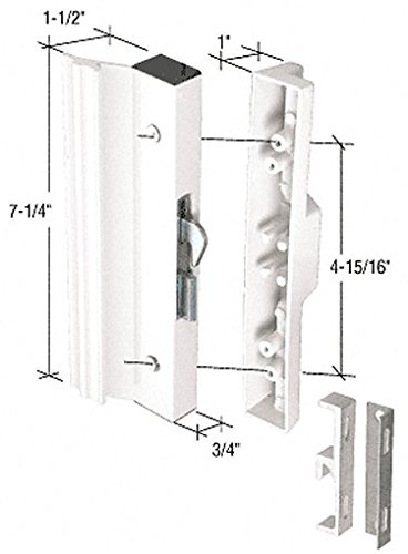 "Crl White Hook Style Surface Mount Handle With 4-15/16"" Screw Holes By Cr Laurence front-952002"