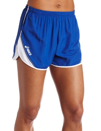 ASICS Women's Team Split Short,Royal/White,Medium