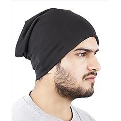 Huntsman Era Black Slouchy beanie caps for men /women / unisex beanie