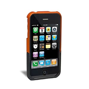 iFrogz Luxe Case for iPhone 3G, 3G S (Orange,Black)