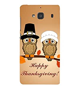 EPICCASE happy thanksgiving Mobile Back Case Cover For Mi Redmi 2s (Designer Case)