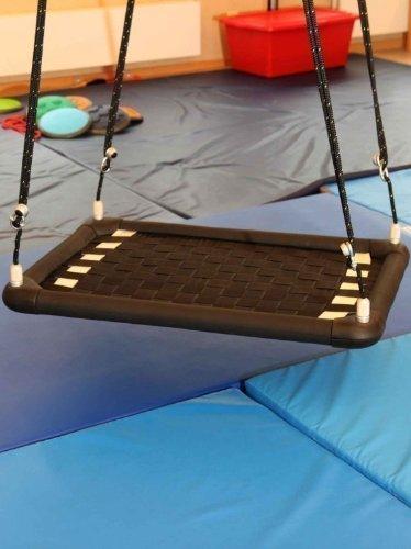 Therapieschaukel – PlattformPlus S10 rechteckig / silber m. schwarzen Orientierungsstreifen / 100x65x6,5 cm / 8 kg kaufen