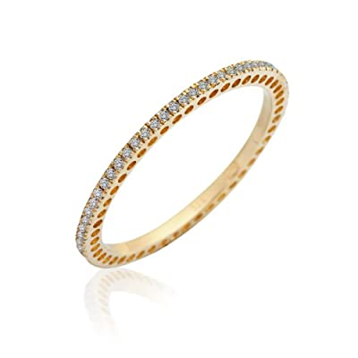 Miore Full Eternity Ring, 9ct White Gold women's' Diamond Ring MP9121R