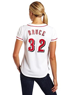MLB Cincinnati Reds Jay Bruce White Home Replica Baseball Women's Jersey, White